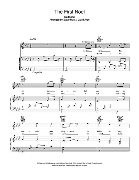 Einfache Le by The Noel Sheet By Susan Boyle Piano Vocal