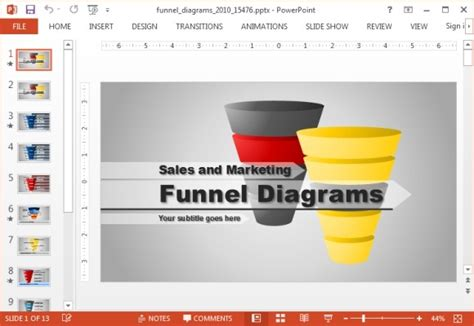 Animated Funnel Diagrams Powerpoint Template Powerpoint Presentation Funnel Diagram Powerpoint Template