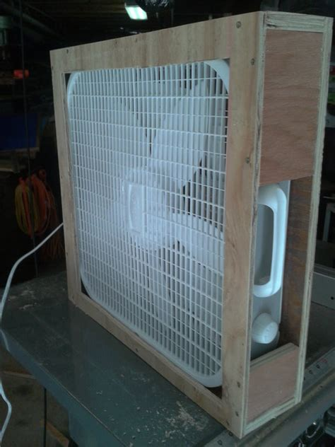 box fan filter woodworking shop air filter out of a box fan by busterb