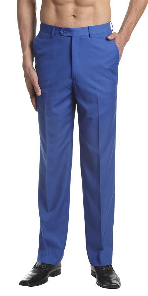 light blue slacks mens concitor s dress trousers flat front slacks