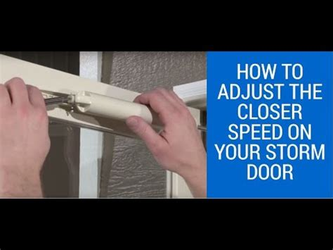 how to adjust closer speed on larson door
