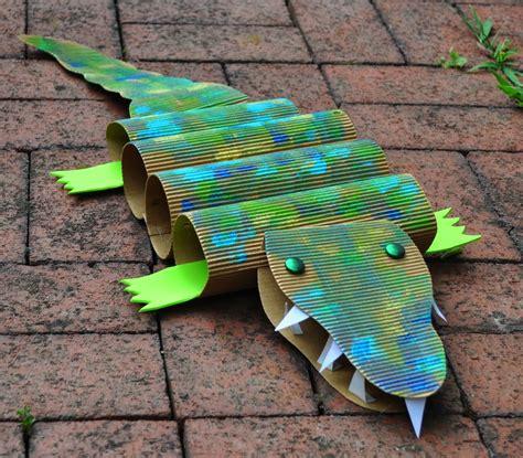 crocodile crafts for with cardboard crocodiles