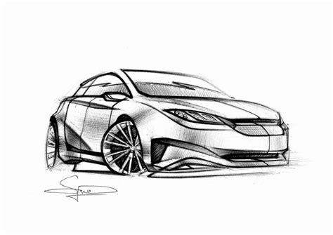 Skizze Auto by Simon Larsson Sketchwall Ballpoint Fisheye Car Sketch