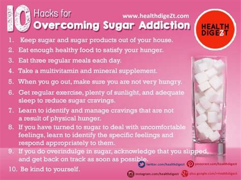Detox From Sugar Tips by 10 Hacks For Overcoming Sugar Addiction Must Read These