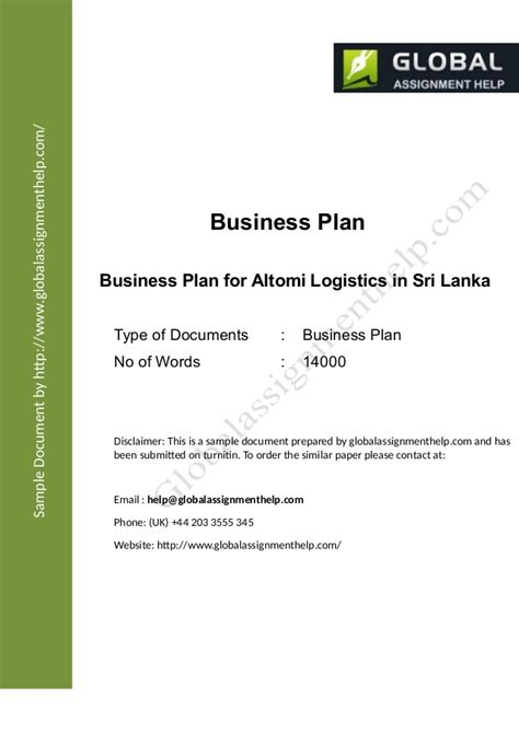 business plan template for transport company business plan for a company assignment sle