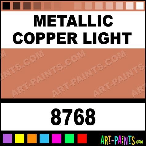 metallic copper light glaze acrylic paints 8768 metallic copper light paint metallic copper