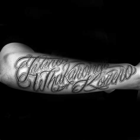 forearm script tattoos 90 script tattoos for cursive ink design ideas