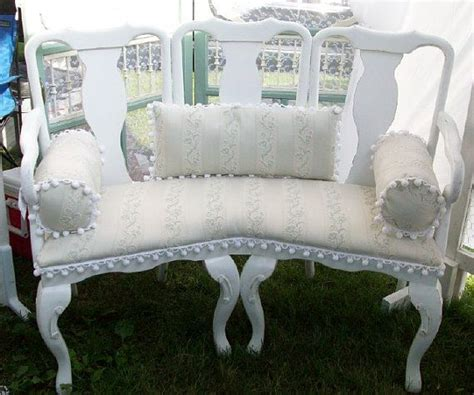 shabby chic bench ideas 25 best ideas about chair bench on