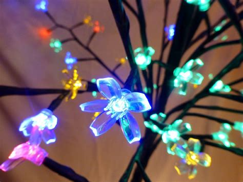 light up 1 8m 6ft multi coloured christmas blossom tree