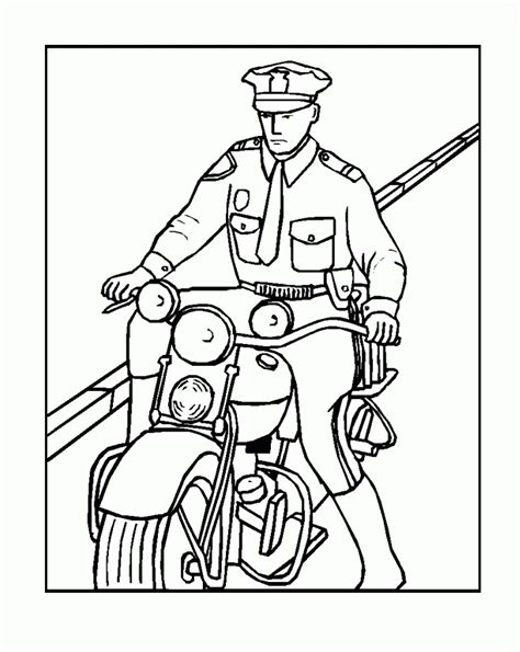 coloring pages with police kids police badge coloring home