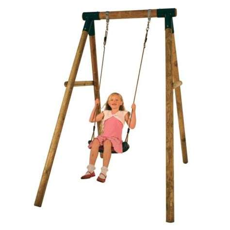 garden swings for babies 1 2m single wooden garden swing set fully treated ebay