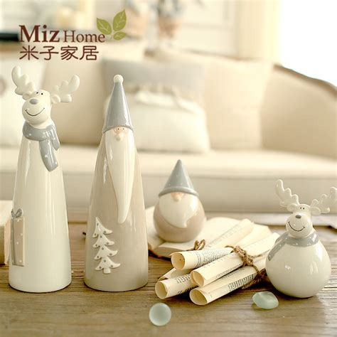 ceramic home decor miz home 1 piece ceramic christmas decor doll for home
