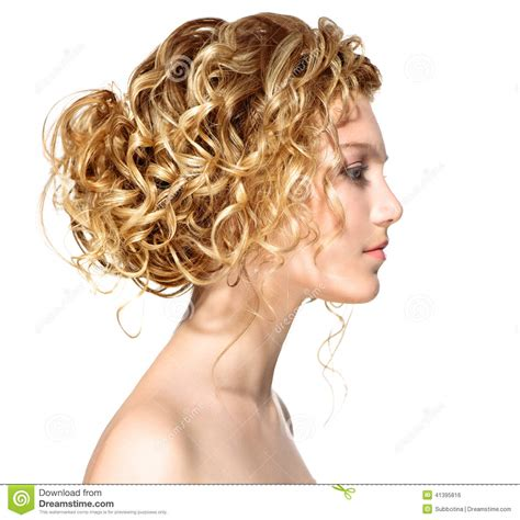 xideos of permed hair girl with blonde permed hair stock photo image 41395816