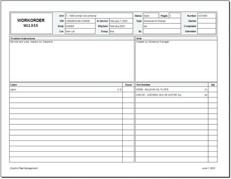 project purchase order template