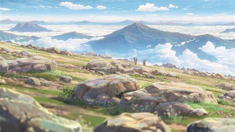 kimi no na wa your name landscape mountains rock
