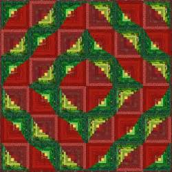 Free Log Cabin Quilt Patterns by Wreath Log Cabin Quilt Pattern