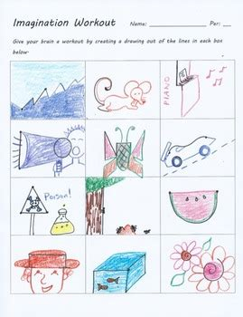 doodle 4 lesson plans imagination workout creativity test drawing sub lesson