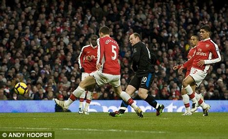 arsenal remembers wayne rooney s manchester united magic after milan brace