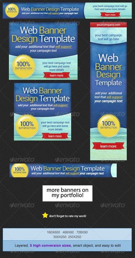 Web Banner Design Template Graphicriver Banner Ad Templates
