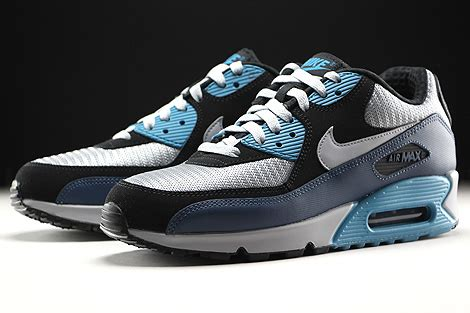 Nike Air Max 90 Essential Squadron 537384 414 Running Shoes Oss nike air max 90 essential squadron blue wolf grey black 537384 414 purchaze