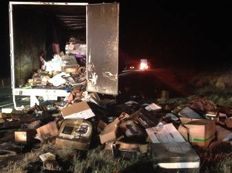 Office Supplies Utah Semi Carrying Office Supplies Goes Up In Flames On I 15