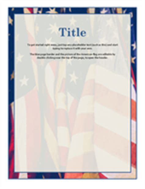 Flyers Office Com American Flag Flyer Template