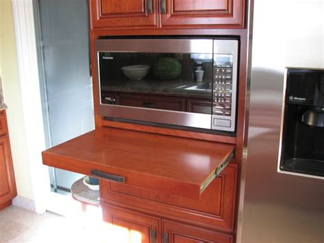 Cabinet With Microwave Shelf by Oak Wooden Cabinet Painted With Brown Color With Microwave