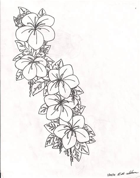 flower tattoo outline designs design flower interior home design