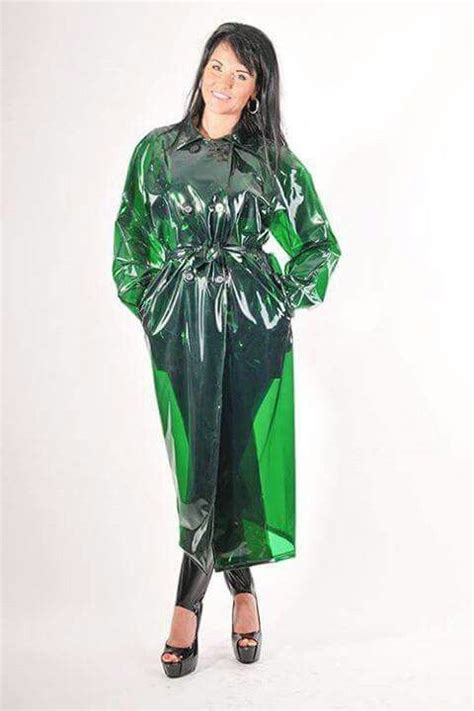 Trend Attack Of The Anorak Second City Style Fashion by Gorgeous Green Plastic Mack Plastic Raincoats