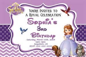 princess sofia birthday invitations
