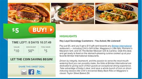 Macaroni Grill Gift Card Promotion - get a 10 gift card to chili s or macaroni grill for only 5