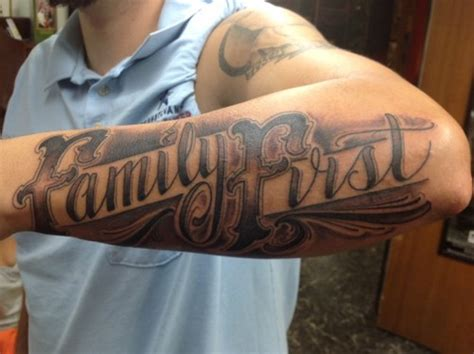 tattoo designs family first stylish family first tattoo on arm