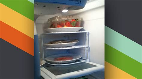 Shelf For Refrigerator by Use A Plate Organiser In The Refrigerator To Add