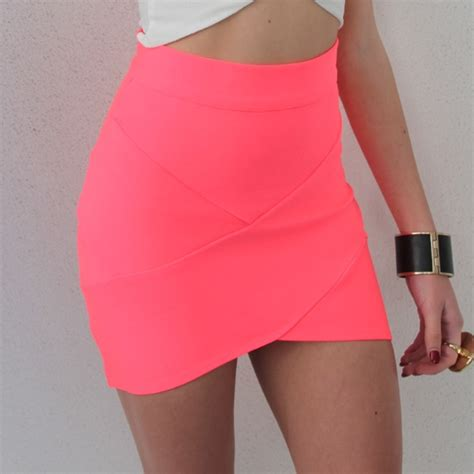 How To Buy Bedding neon pink bandage wrap tube disco skirt 6 8 10 12 ebay