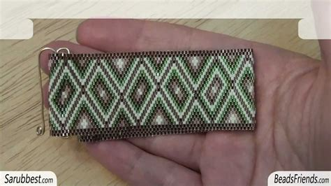 how to add a clasp to a beaded bracelet beadsfriends clasp flat even count peyote