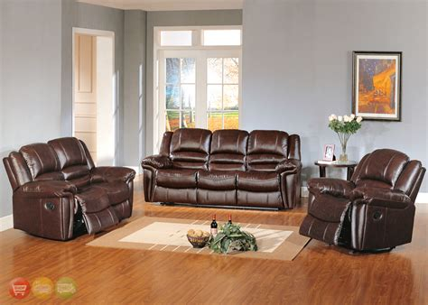 leather living room furniture set sutton brown leather reclining sofa seat living