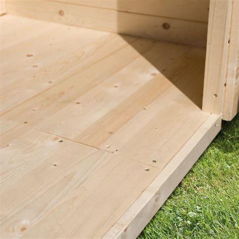 plancher en bois pin massif pour abri de jardin 181x268cm