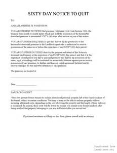 60 Day Notice Sle by California 60 Day Notice Legalforms Org