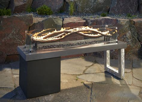 outdoor gas fireplaces pits the wave linear gas pit table pits pits