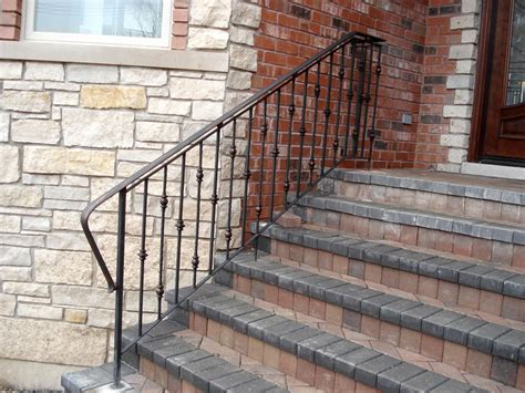 exterior banister iron railings for stairs exterior home design