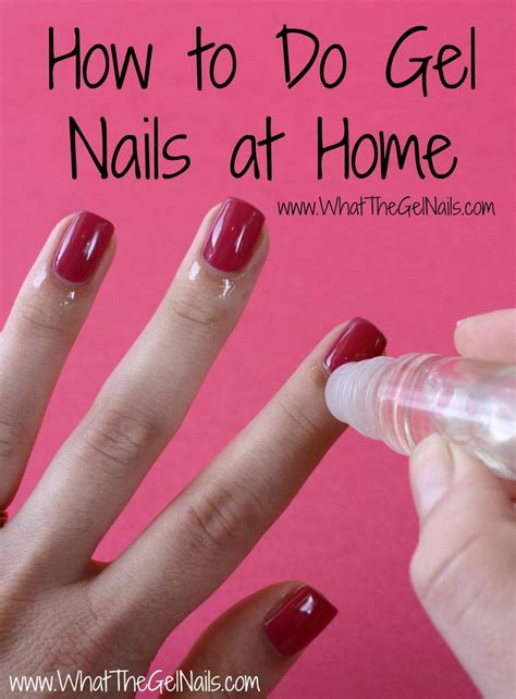 how to do gel nails at home without uv light pinterest qu33n br00ke how to do gel nails at home