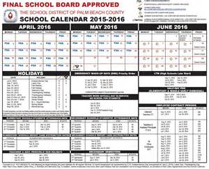 Bay County School Calendar Palm County 2017 School Calendar My