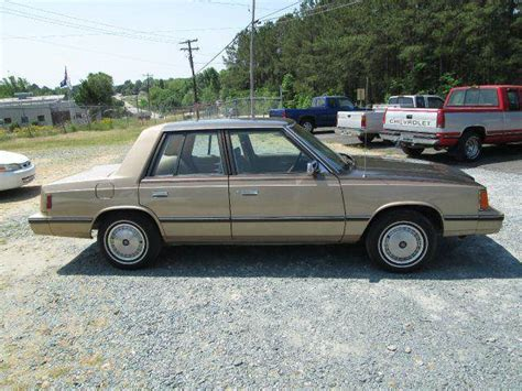 used 1984 dodge aries k for sale