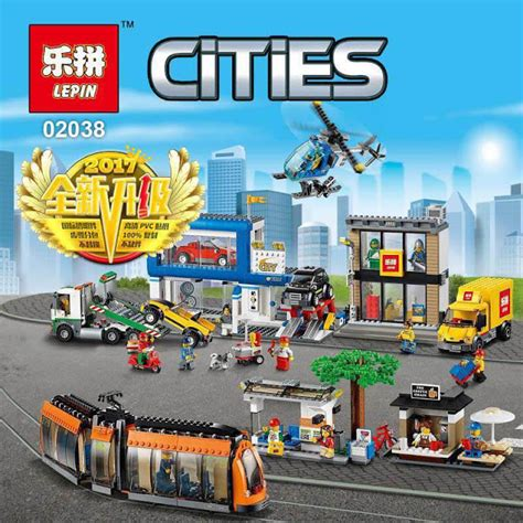 Brick Bootleg Lepin 02038 City Square downtheblocks lepin 02038 cities unofficial city square