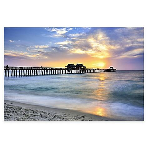 bed bath and beyond naples pier on the beach of naples photographic canvas wall art