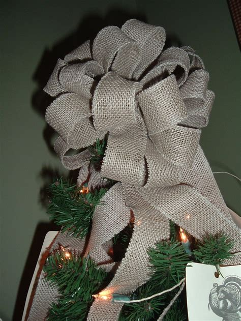 burlap tree topper christmas pinterest