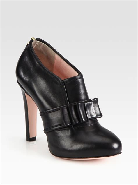 buckle ankle boots valentino leather buckle ankle boots in black lyst