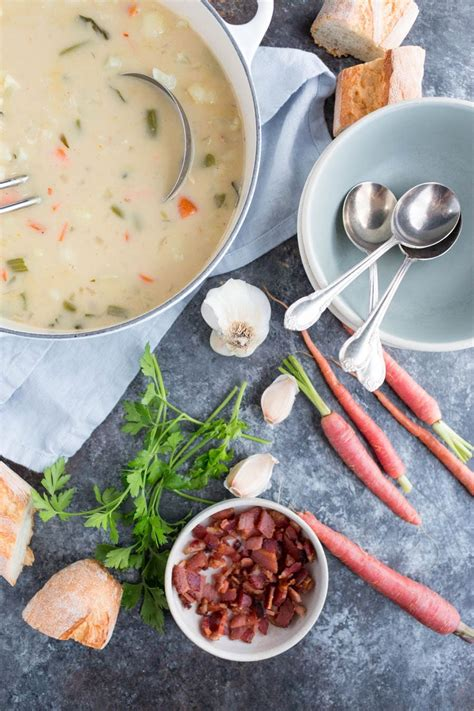 modern comfort cooking feel favorites made fresh and new books cauliflower clam chowder with crispy bacon chez us