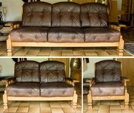 leder couchgarnitur rustikal echtholz 1 2 3er 286853 - Rustikale Couchgarnituren