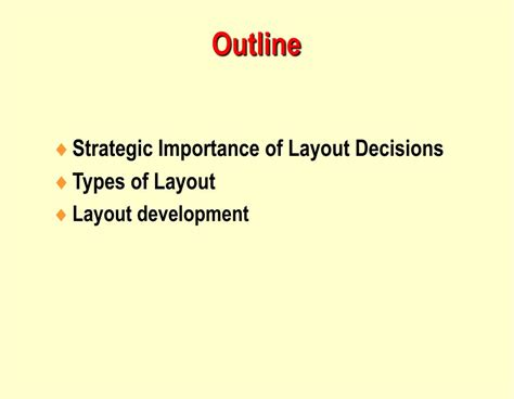 layout strategy importance ppt operations management chapter 9 layout strategy